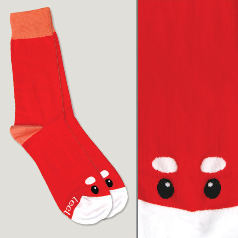 Red Panda Face Socks