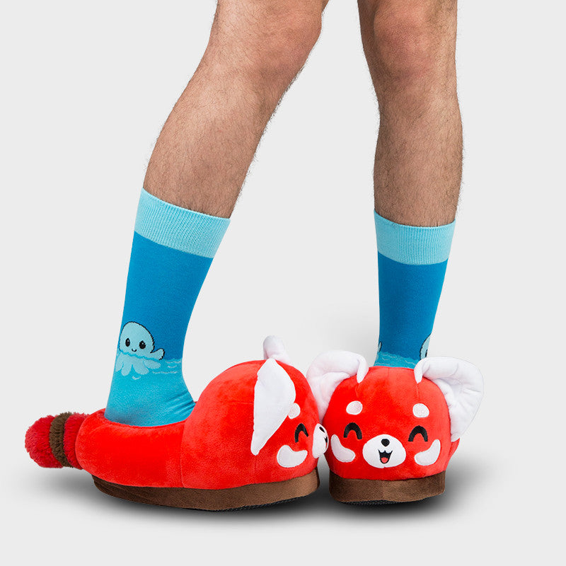 Red Panda Slippers model TeeTurtle