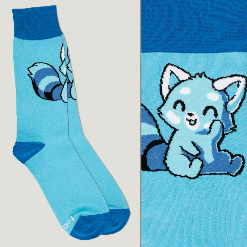 Light Blue Red Panda Socks TeeTurtle