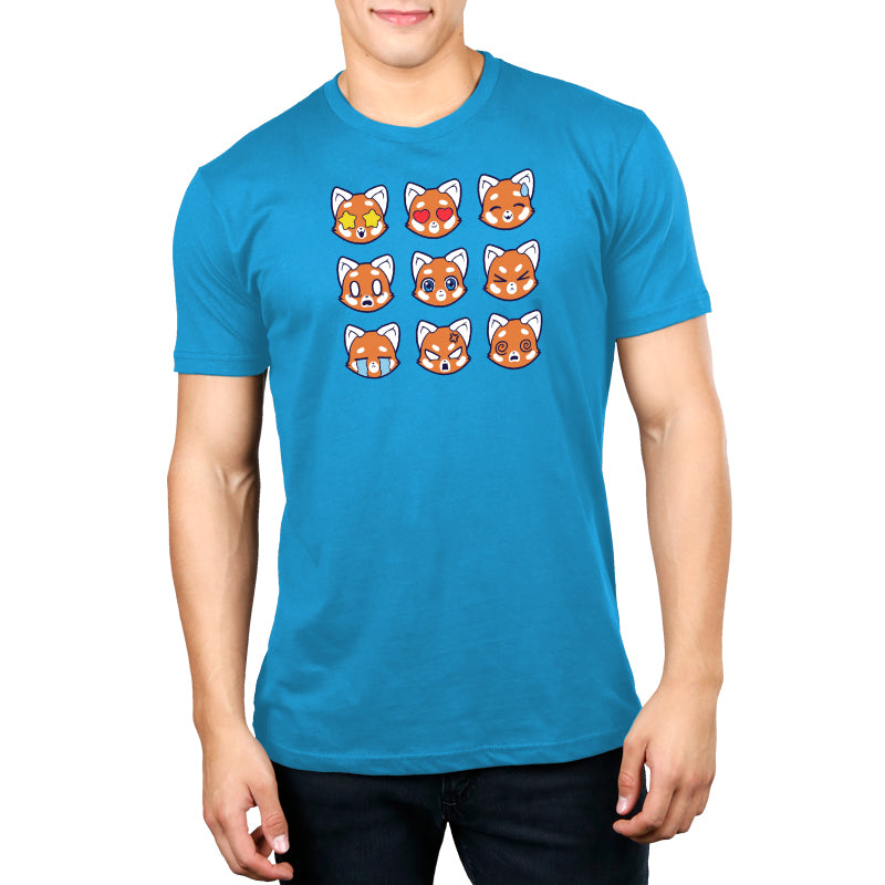 Red Pandamojis Men's T-Shirt Model TeeTurtle