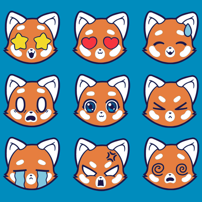 Red Pandamojis T-Shirt TeeTurtle