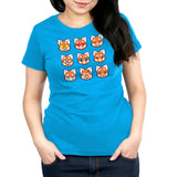 Red Pandamojis Women's T-Shirt Model TeeTurtle