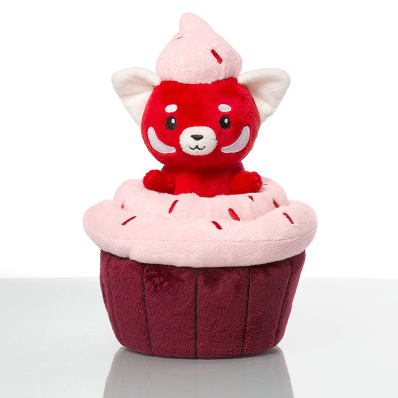 Red Velvet Panda Cupcake Massive Mini Plushie TeeTurtle