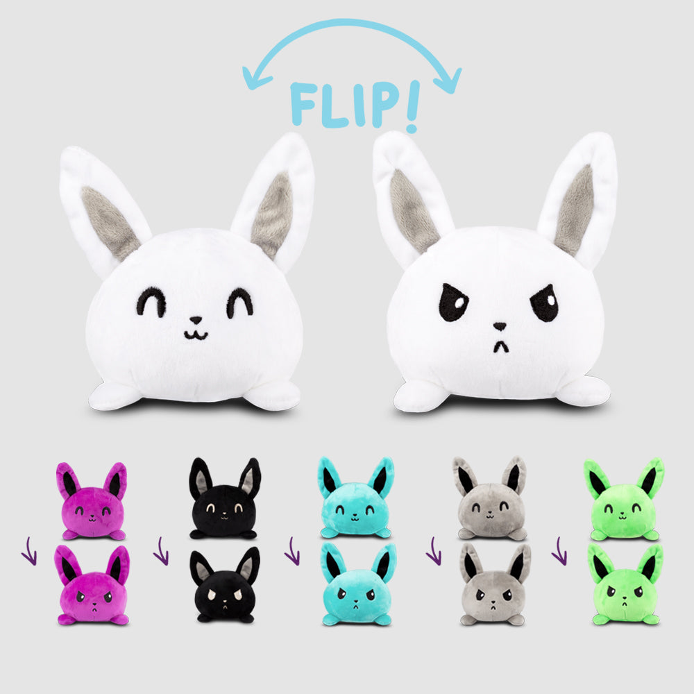Reversible Bunny Mini Plushie TeeTurtle