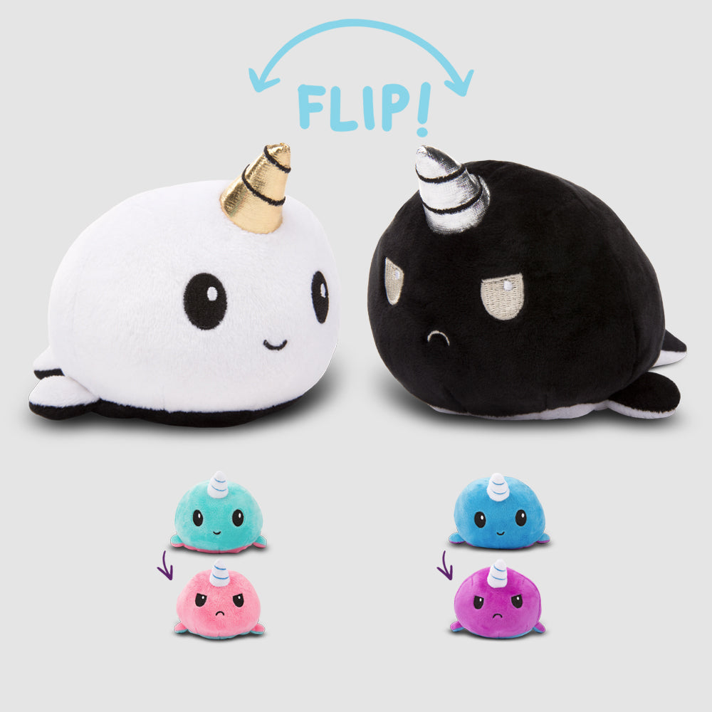 Reversible Narwhal Mini Plushies TeeTurtle Minis