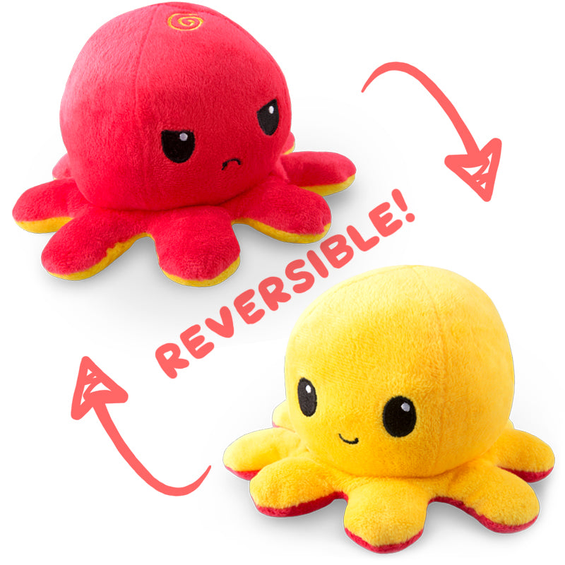 Reversible Octopus Mini Plushie Funny Cute Nerdy Plushies