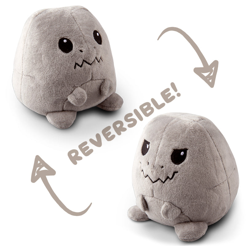 Reversible T-Rex Mini Gray Plushie TeeTurtle