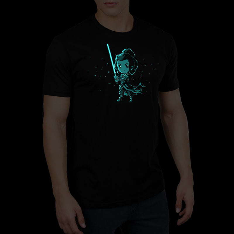 Lightsaber Glow (Rey) standard t-shirt model Star Wars TeeTurtle