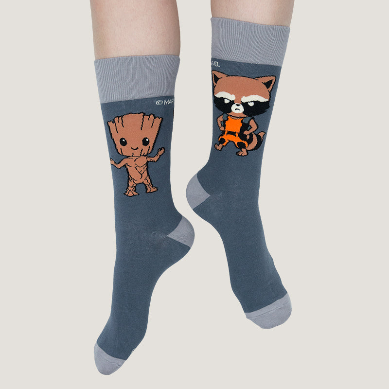 Rocket & Groot Socks