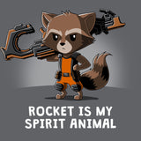 Rocket Is My Spirit Animal T-Shirt Marvel TeeTurtle