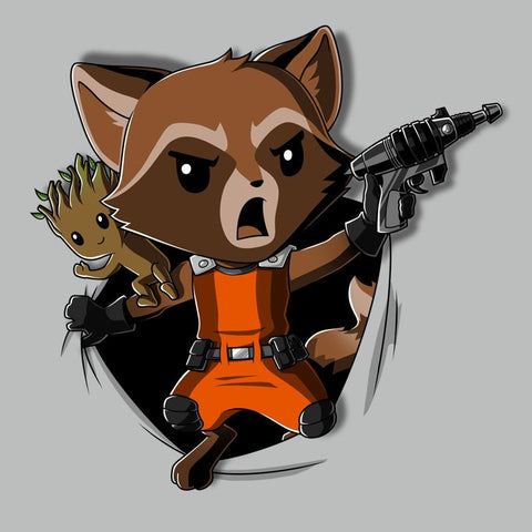 Rocket Raccoon Breakthrough T-Shirt Marvel TeeTurtle