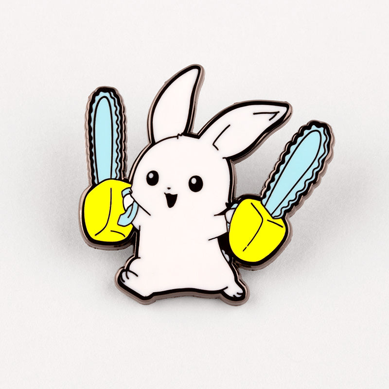 Running With Chainsaws Charm Pin TeeTurtle