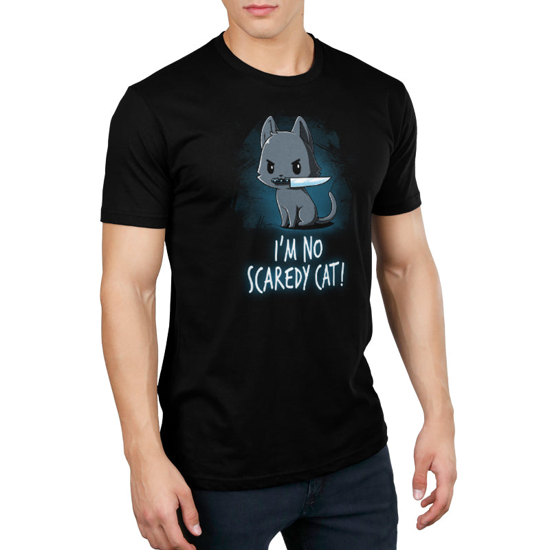 Scaredy Cat Men's T-Shirt Model TeeTurtle