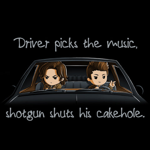 Shotgun Shuts His Cakehole t-shirt Supernatural TeeTurtle