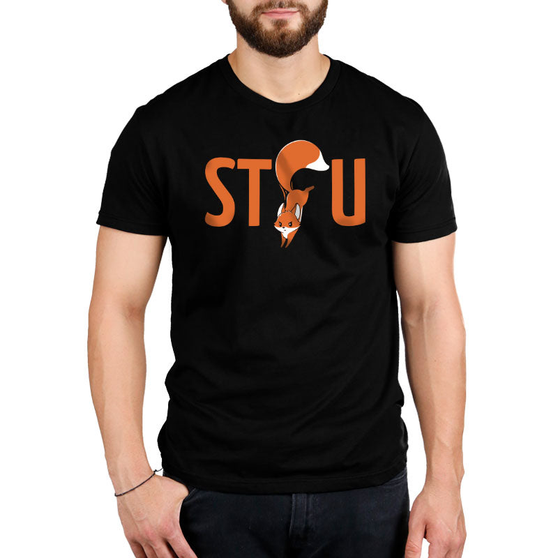 Shut the Fox Up Standard T-Shirt Model TeeTurtle