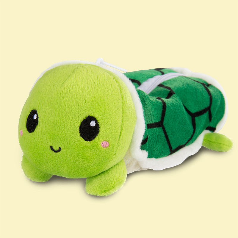 Shy Turtle Pencil Case Plushie TeeTurltle Minis