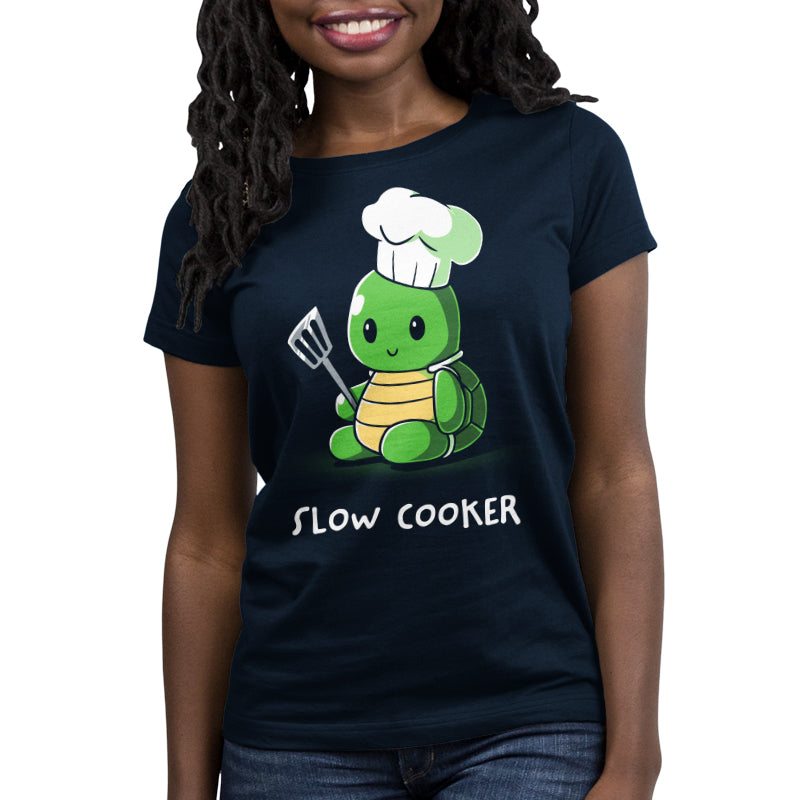 Slow Cooker Women's Relaxed Fit T-Shirt Model TeeTurtle