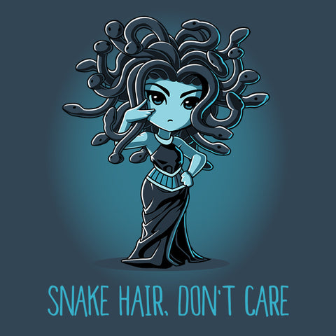 Snake Hair Don't Care T-Shirt TeeTurtle