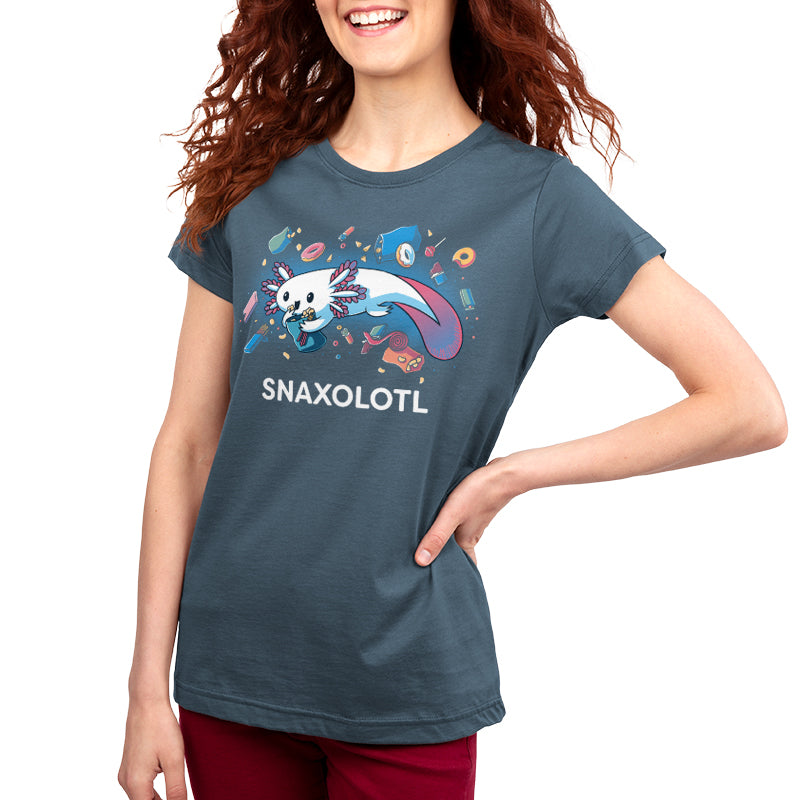 Snaxolotl Women's T-Shirt Model TeeTurtle