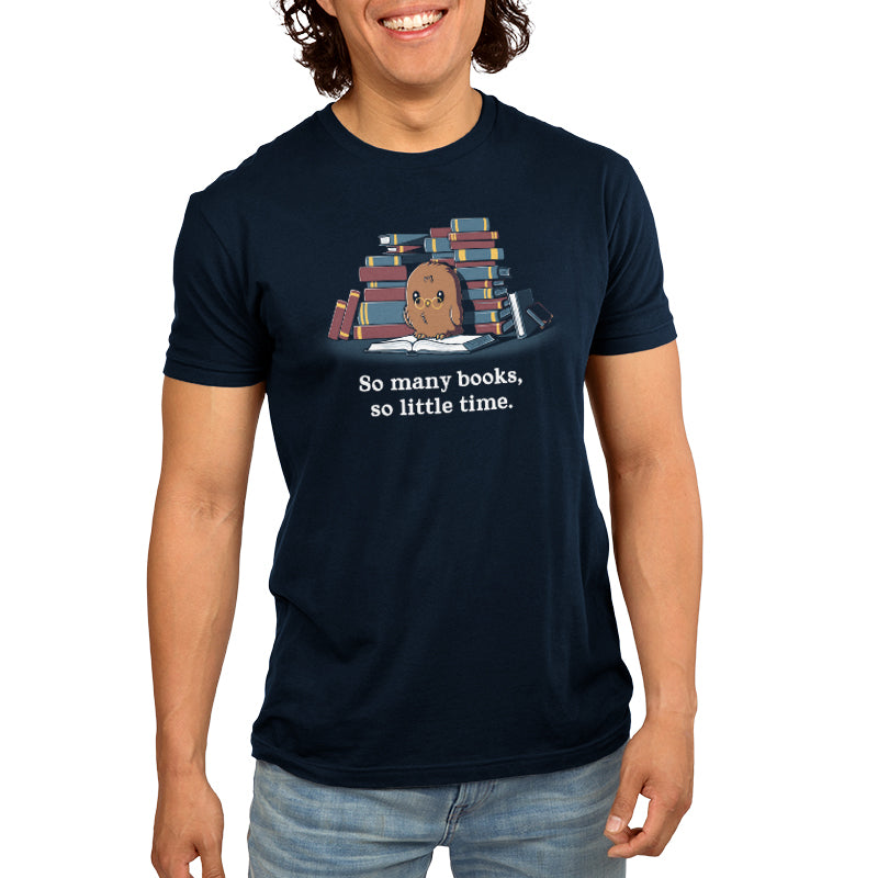 So Many Books, So Little Time Men's T-Shirt Model TeeTurtle