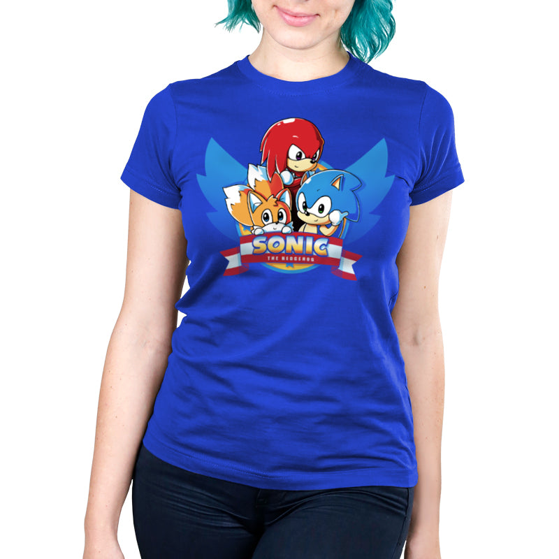 Sonic Tails Knuckles T Shirt Official Sonic The Hedgehog Tee