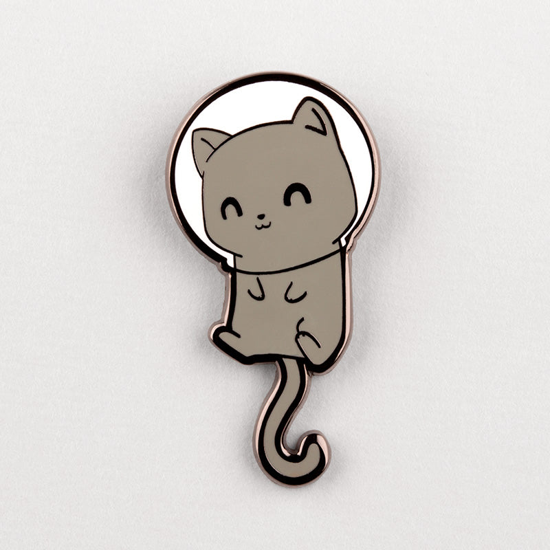 Space Cat Charm Pin TeeTurtle