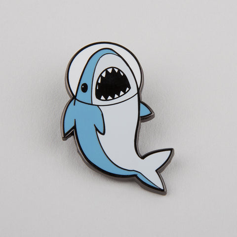 Space Shark Charm Pin TeeTurtle
