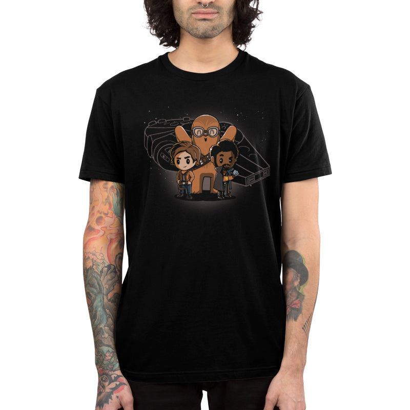 Space Smugglers Men's T-Shirt Model Star Wars TeeTurtle