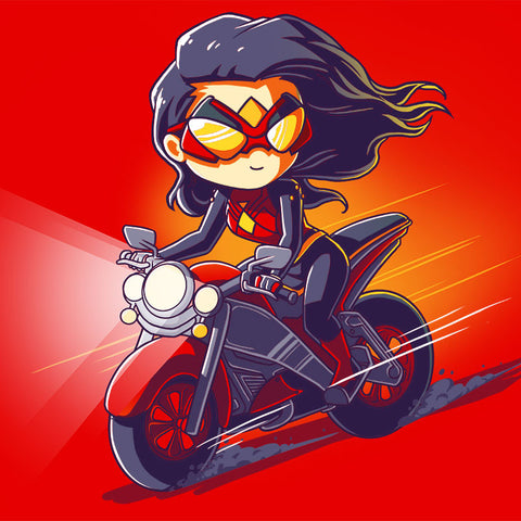 Spider-Woman Motorcycle shirt TeeTurtle