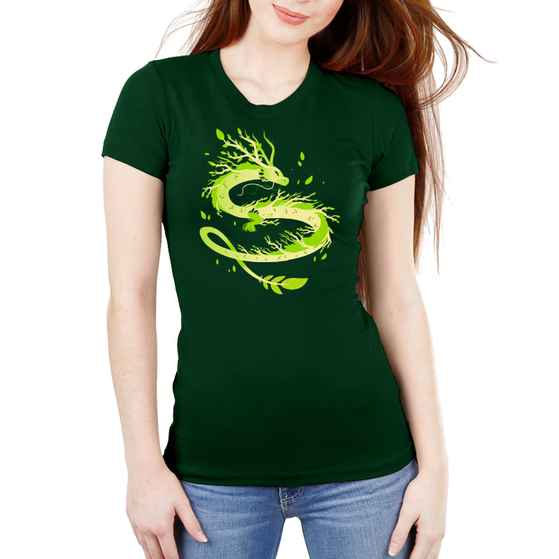 Spring Dragon Women's Ultra Slim T-Shirt Model TeeTurtle