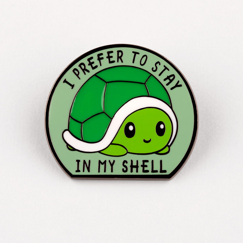 Stay in My Shell Charm Pin TeeTurtle