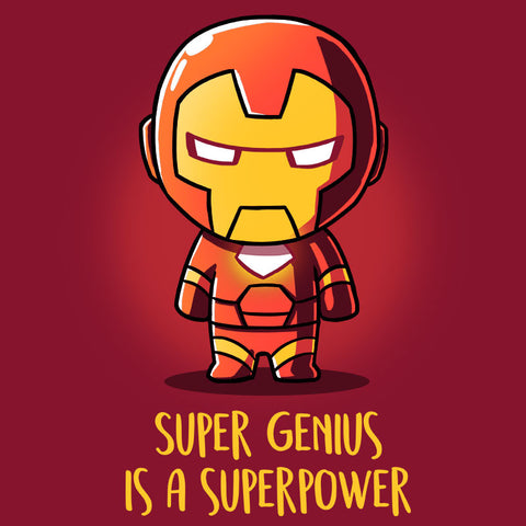 Super Genius Is a Superpower T-Shirt Marvel TeeTurtle