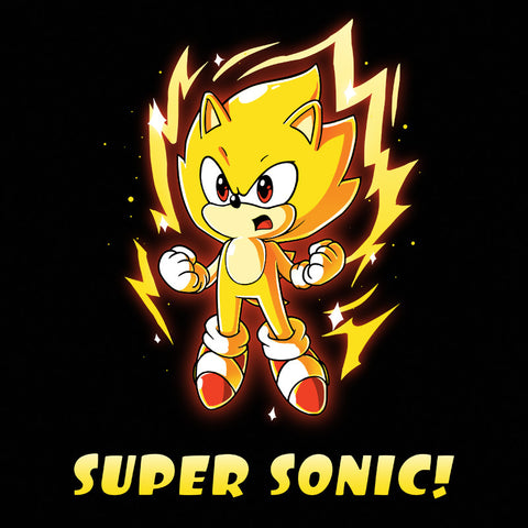 Super Sonic T-Shirt Sonic the Hedgehog TeeTurtle