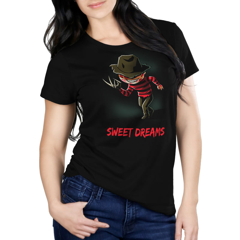 Sweet Dreams Women's Relaxed Fit t-shirt model Nightmare on Elm Street TeeTurtle