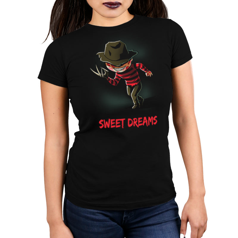 Sweet Dreams Women's Ultra Slim t-shirt model Nightmare on Elm Street TeeTurtle