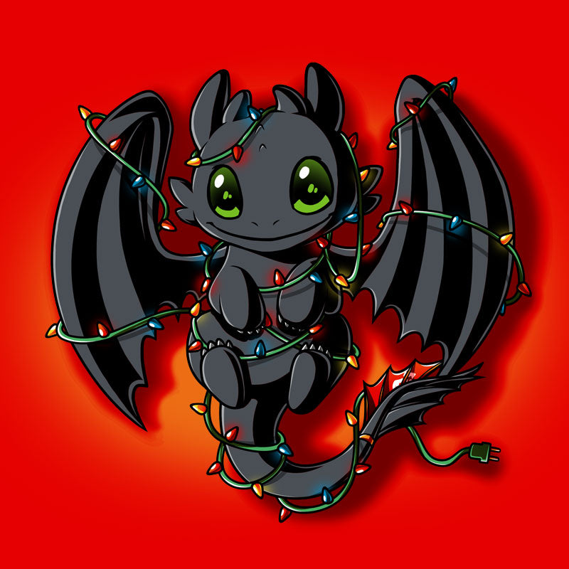 Tangled Up Toothless T-Shirt How to Train Your Dragon TeeTurtle