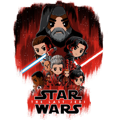 The Last Jedi T-Shirt Star Wars TeeTurtle