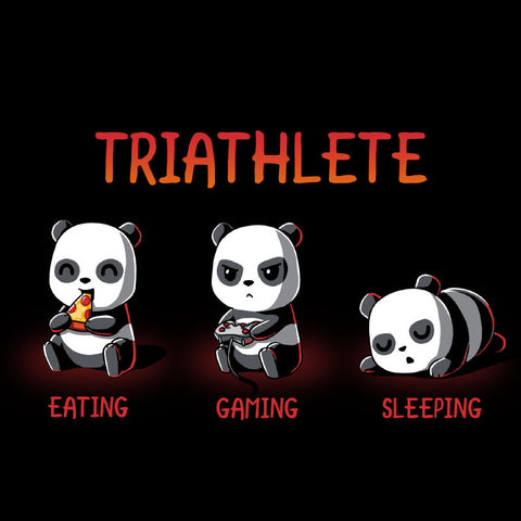 Triathlete t-shirt TeeTurtle