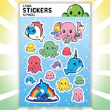 Undersea Stickers TeeTurtle