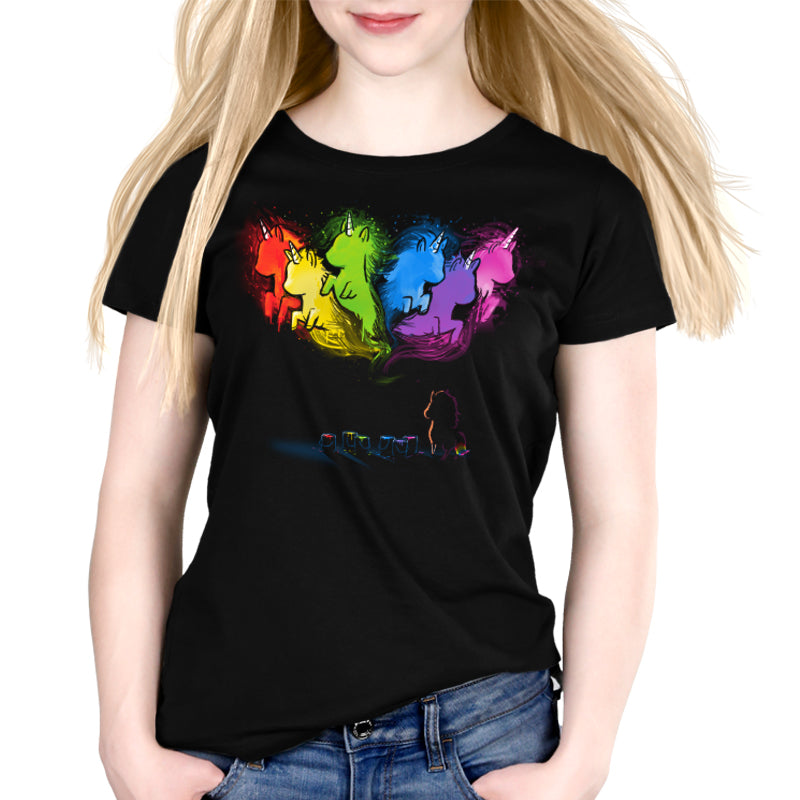 Unicorn Dreams Women's Relaxed t-shirt model TeeTurtle