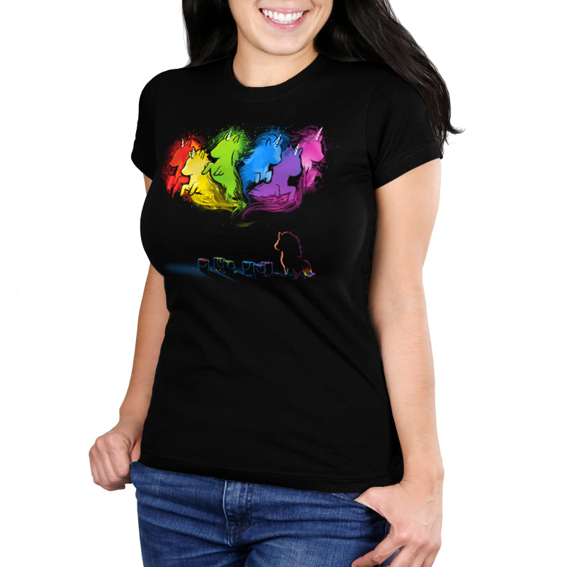 Unicorn Dreams Women's Ultra Slim t-shirt model TeeTurtle