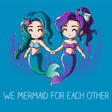 We Mermaid For Each Other t-shirt TeeTurtle