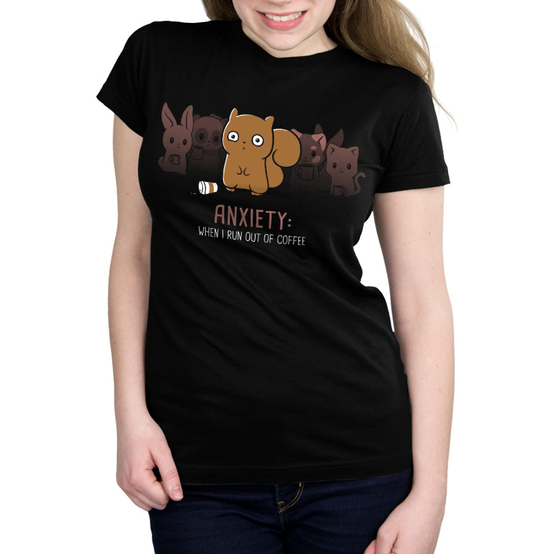 Anxiety: No Coffee Women's Ultra Slim T-Shirt Model TeeTurtle