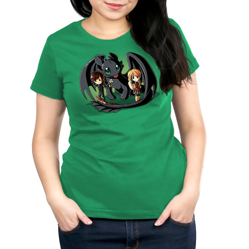 Wing Man Women's Relaxed t-shirt model How To Train Your Dragon TeeTurtle