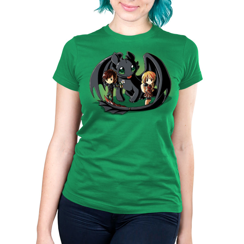 Wing Man Women's Ultra Slim t-shirt model How To Train Your Dragon TeeTurtle