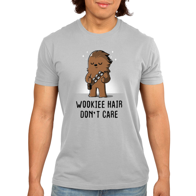 Wookie Hair Don't Care Men's T-Shirt Model Star Wars TeeTurtle