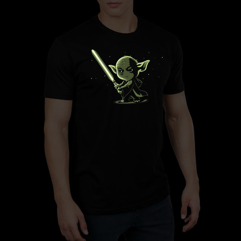 Lightsaber Glow (Yoda) standard t-shirt model Star Wars TeeTurtle