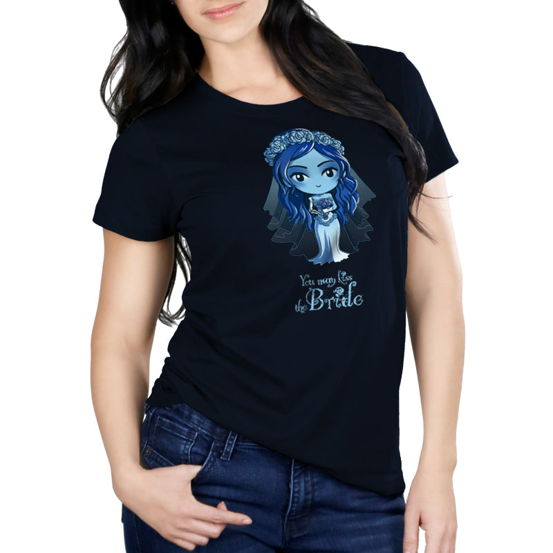 You May Kiss the Bride Women's Relaxed Fit t-shirt model Corpse Bride TeeTurtle