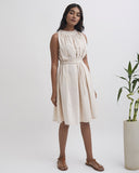 SUMMER CLOUD Scalloped Tie up Dress