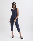 SQUARE EYE BLUE JUMPSUIT